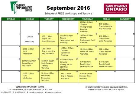 ES workshops September